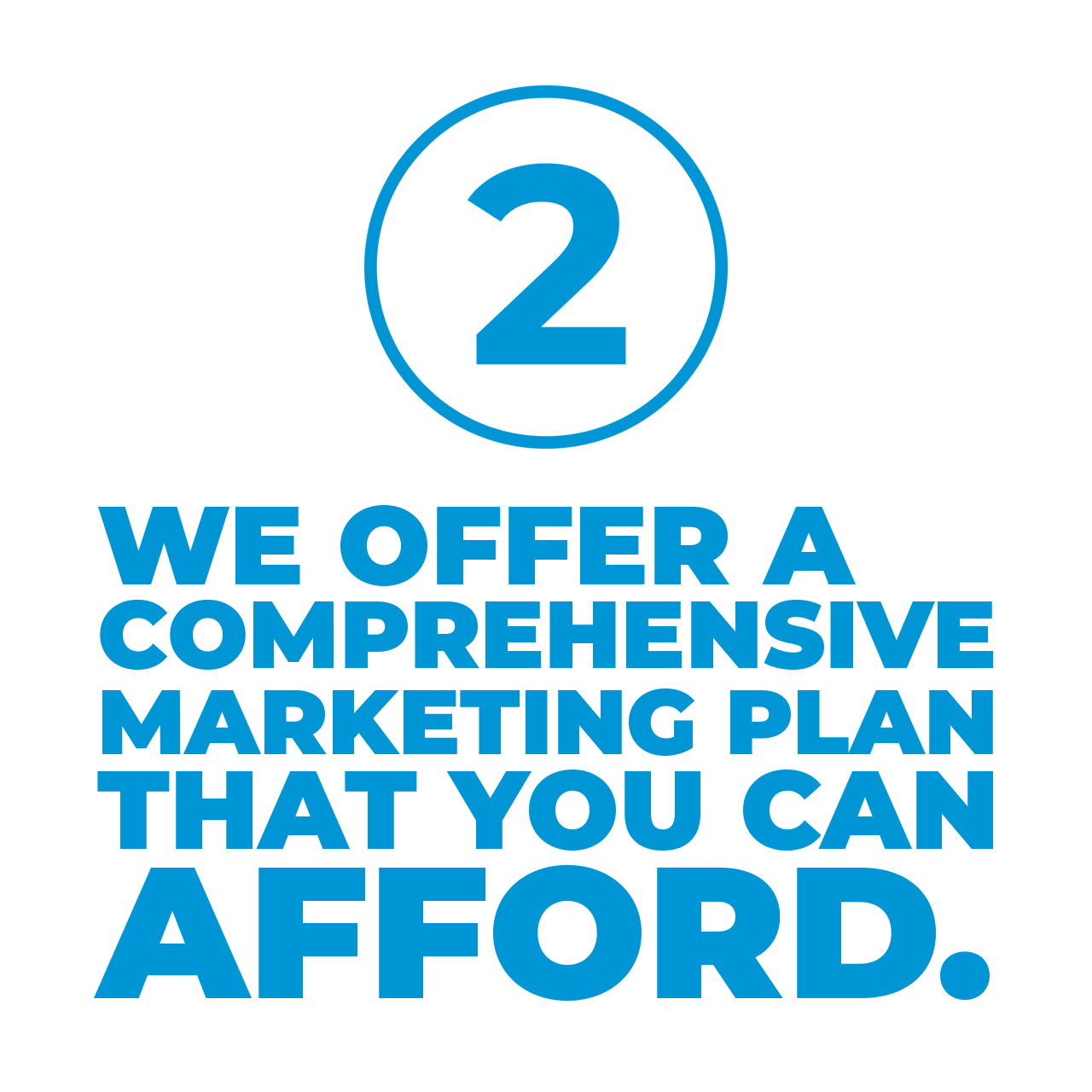 we offer a comprehensive marketing plan that you can afford.